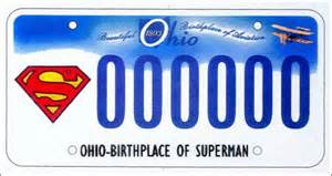 new superman license plates in ohio in dc archives message