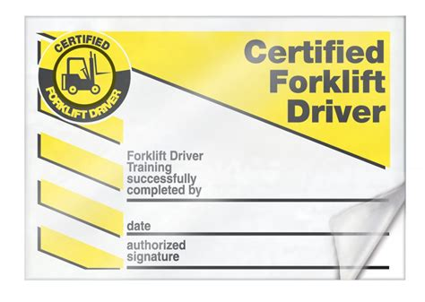 Forklift Certification Cards Lkc230 Forklift Card Template