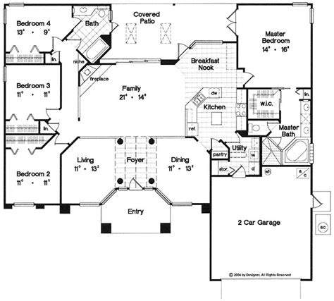 1 floor house plans one story house plan i would change the garage entry i