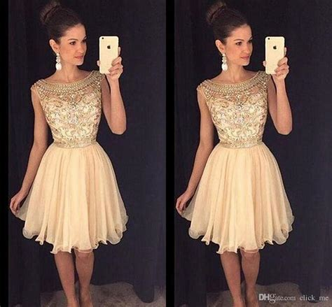 Hairstyles For 2017 Homecoming Dresses by 2017 Cheap Scoop Homecoming Dresses Beaded Crystals A Line
