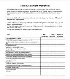 It Skills Assessment Template by Skills Assessment 7 Free Documents In Pdf