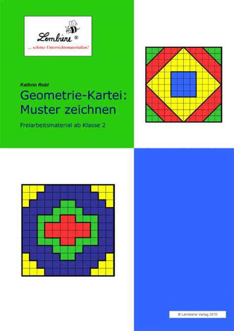 Muster Zeichnen Grundschule Geometrie Kartei Muster Zeichnen Restauflage