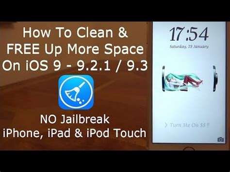 how to make more room on iphone how to clean free up more space on ios 9 10 11 no jailbreak iphone ipod touch