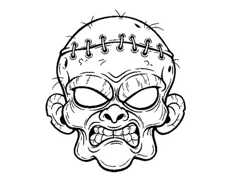 zombie cat coloring page zombie face coloring page