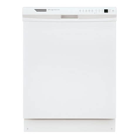 frigidaire front dishwasher in white with