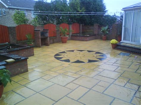 Patio Designs Using Slabs Patios Paving Indian Prinford Fencing
