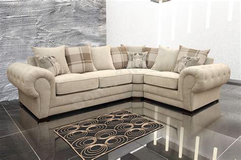 cream corner sofa fabric verona corner sofa fabric right cream brown