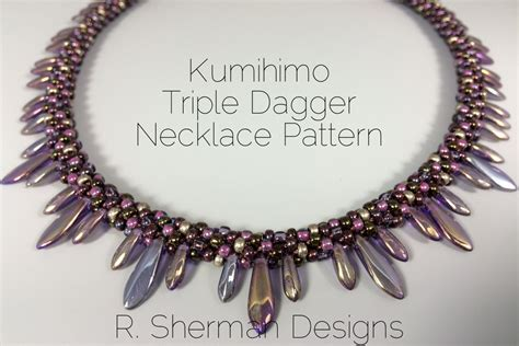 PDF Kumihimo Pattern Kumihimo Triple Dagger Necklace