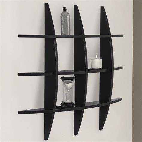 Home Decor Furniture Bcp Cross Wood Wall Shelf Black Finish Home Decor Furniture Ebay