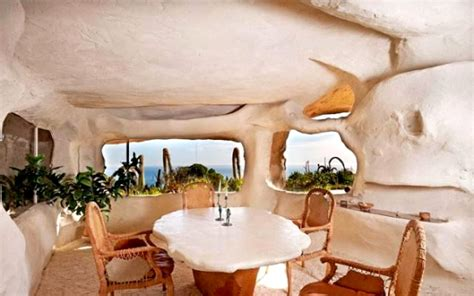 dick clark s flintstone house dick clark s epic bedrock style cave house in malibu