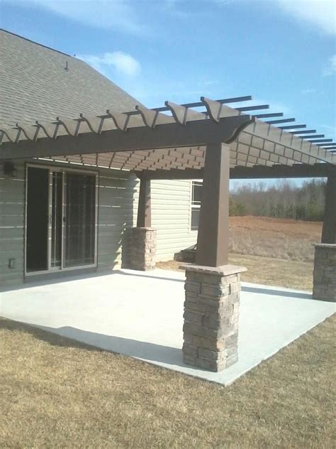 pergola with stone column for the home pinterest