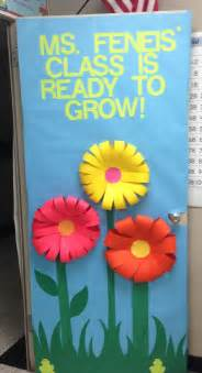 Classroom door decoration i like how they made the flowers
