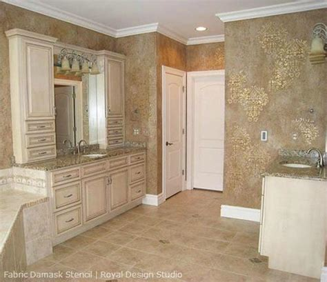 Bathroom Wall Stencil Ideas Wall Stencils Fabric Damask Stencils Royal Design Studio Stencils