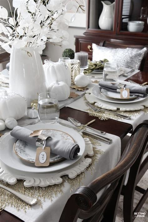 elegant and neutral christmas foyer setting for four easy transitional thanksgiving to christmas centerpiece