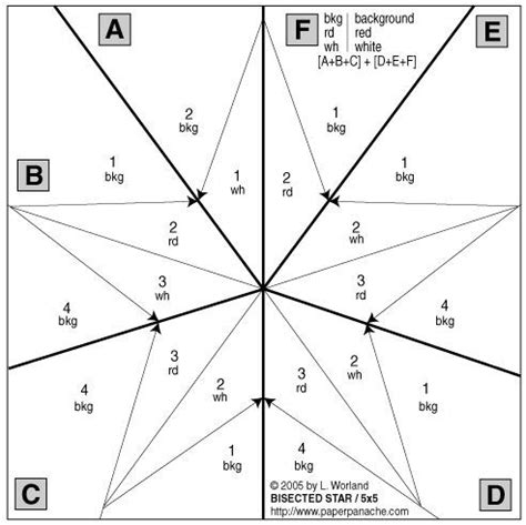 Five Pointed Quilt Pattern by Quilt Patterns Five Pointed Pattern Index Of