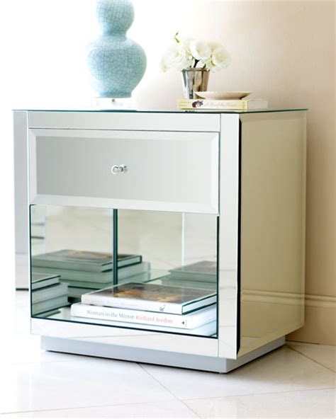 mirrored bedroom side tables mirrored side table