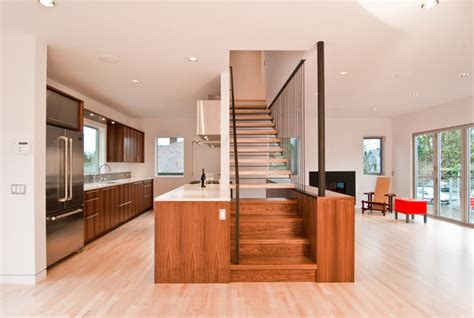 Inter Stairs And Kitchen Design Modern Stair By Build Llc Modern Staircase Seattle By Build Llc