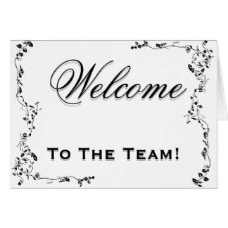Welcome To The Team Card Template welcome cards welcome card templates invitations photo