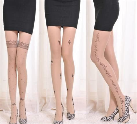pattern tights online online buy wholesale tattoo patterned tights from china