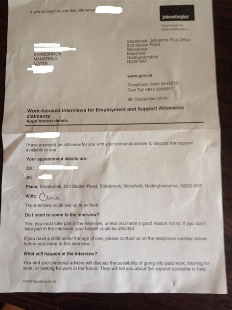 More Details Of The Shirebrook Jobcentre Situation Same