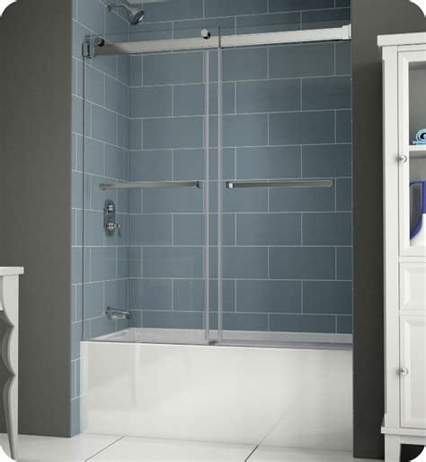 Shower Doors For Tubs Frameless Fleurco Npt60 11 40 Gemini Plus Frameless Bypass Sliding Tub Doors With Hardware Finish Bright