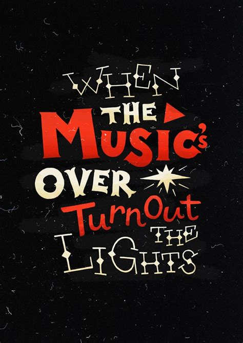 Turn Out The Lights Song by When The S Turn Out The Lights Typography