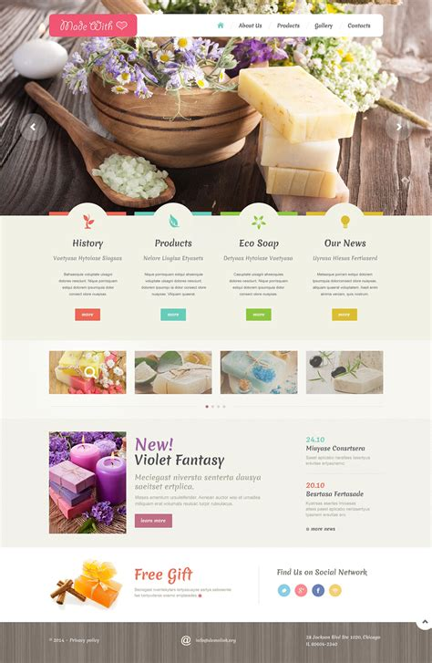Handmade Products Website - crafts responsive website template 48988