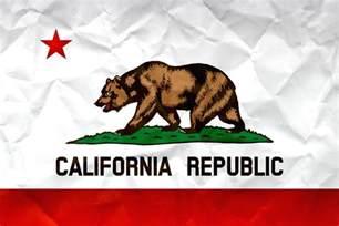 Flag of California: Realistic Paper Texture on Californian's Flag California
