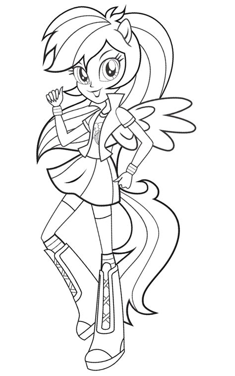 my little pony coloring pages and games coloriage 171 equestria girls friendship games