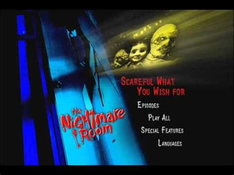 the nightmare room scareful what you wish for the nightmare room vol 1 dvd menu