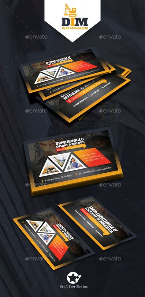 Construction Business Card Template Photoshop by Construction Business Card Templates Construction