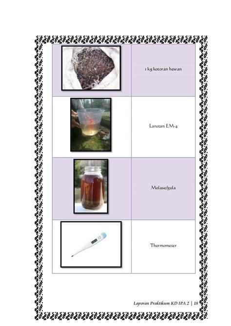 laporan praktikum membuat pupuk kompos praktikum pembuatan pupuk bokashi
