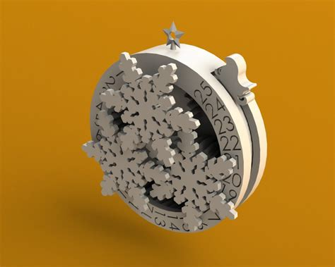 countdown to christmas ornament solidworks stl 3d cad