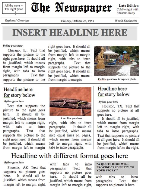 newspaper templates for word online newspaper front page template 101 delicious runnerswebsite