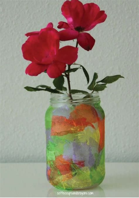 paper vase craft tissue paper vase craft