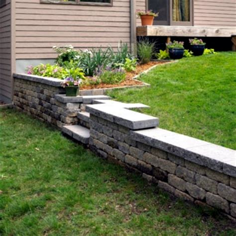 How To Build A Retaining Wall Out Of Sleepers by Build Retaining Wall In The Garden Itself Simple And