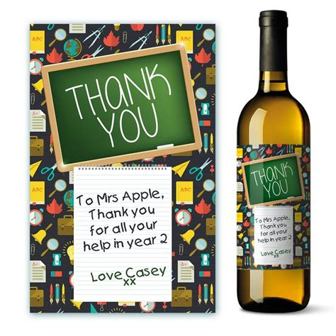 thank you letter wine gift personalised helper thank you wine labels a