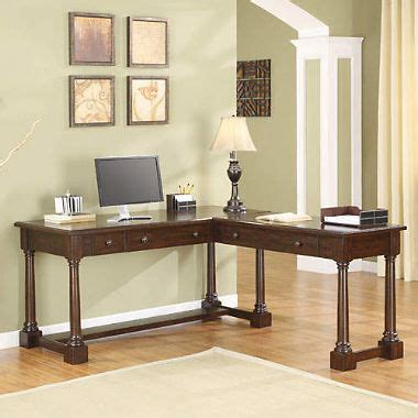 whalen desk sam s club milan dark oak l shaped desk sam s club