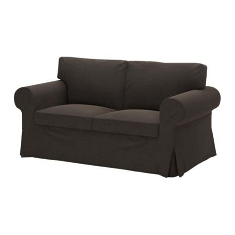 brown loveseat cover ikea ektorp 2 seat sofa slipcover korndal dark brown