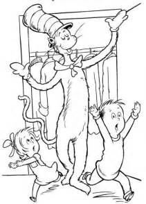 fun coloring pages cat hat coloring pages dr seuss