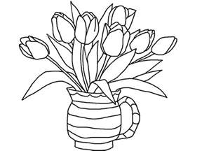 tulip coloring pages free printable tulip coloring pages for