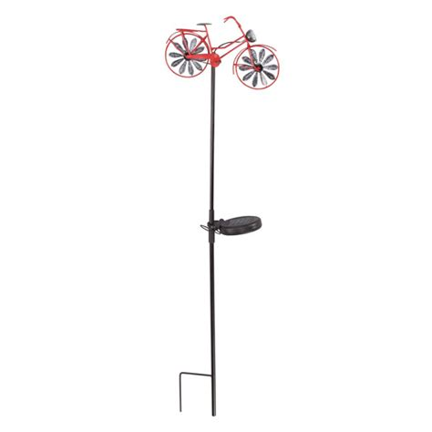 bicycle wind spinner with solar light solar bicycle wind spinner by maple lane creations miles