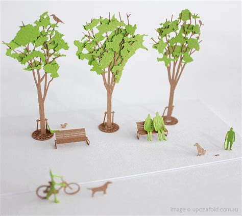 How To Make Model Trees From Paper - japanese architectural paper models green trees design