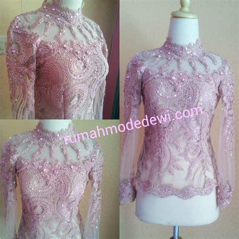 Bordir Blouse Magenta Yuriko kebaya seragam ibu dan anak warna pink magenta