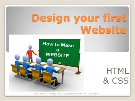 design your html design your first website using html