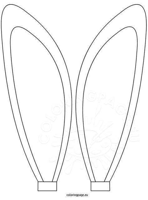 horse with bunny ears clipart coloring page of bunny