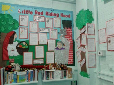 story themes ks1 little red riding hood story display classroom display