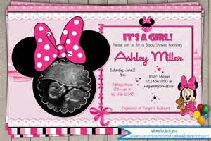 minnie mouse baby shower invitation its a baby