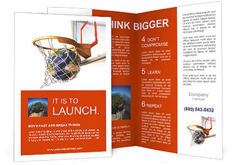 planet brochure template planet earth falling into the basketball basket by a