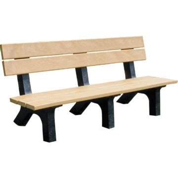 rock island bench cedar with black legs recycled plastic